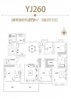 建面约272㎡五室两厅三卫