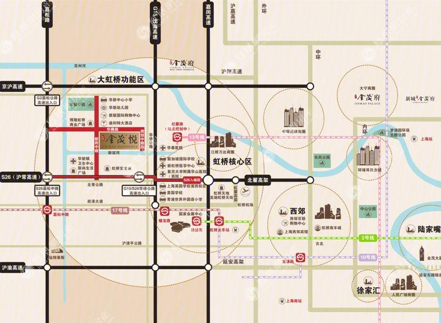 虹桥金茂悦规划图2