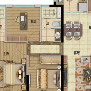 Y054-A户型,3室2厅2卫