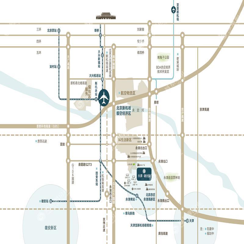 永清融创城规划图2