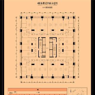 6栋4-12层户型图