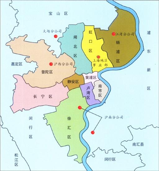 上海市区地图_上海中心城区