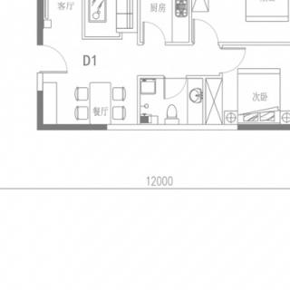 D1户型(4号楼平层)
