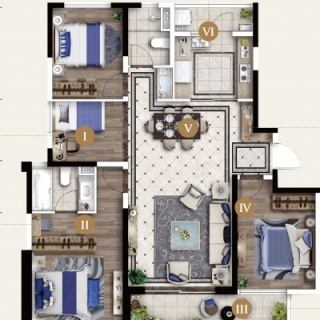 167㎡四室两厅