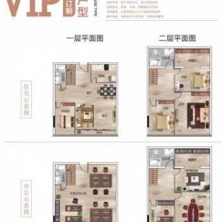 VIP私人订制户型挑高5.5米 90㎡