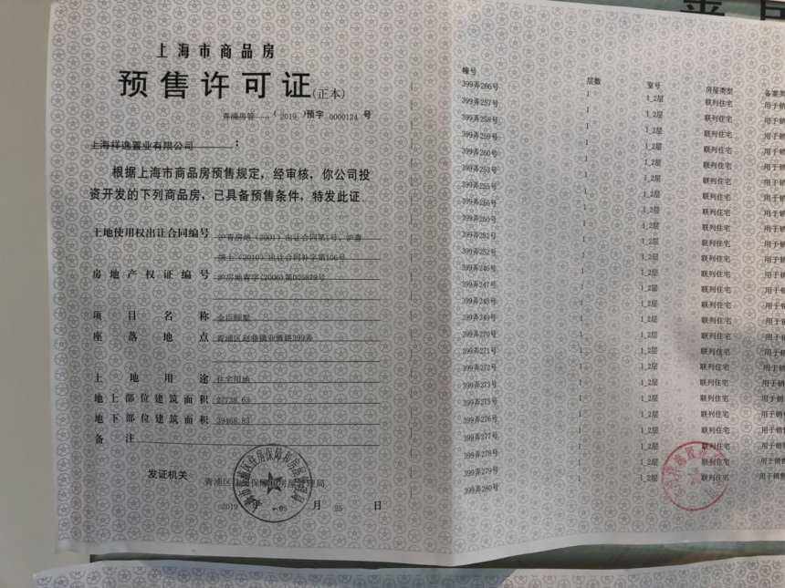 金臣颐墅项目证照6