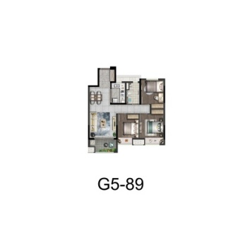G5户型89平